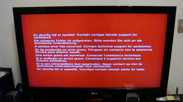 red screen of death